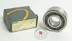high temperature RHP 3203-C3 DOUBLE ROW ANGULAR CONTACT BEARING, 17mm x 40mm x 17.5mm, OPEN