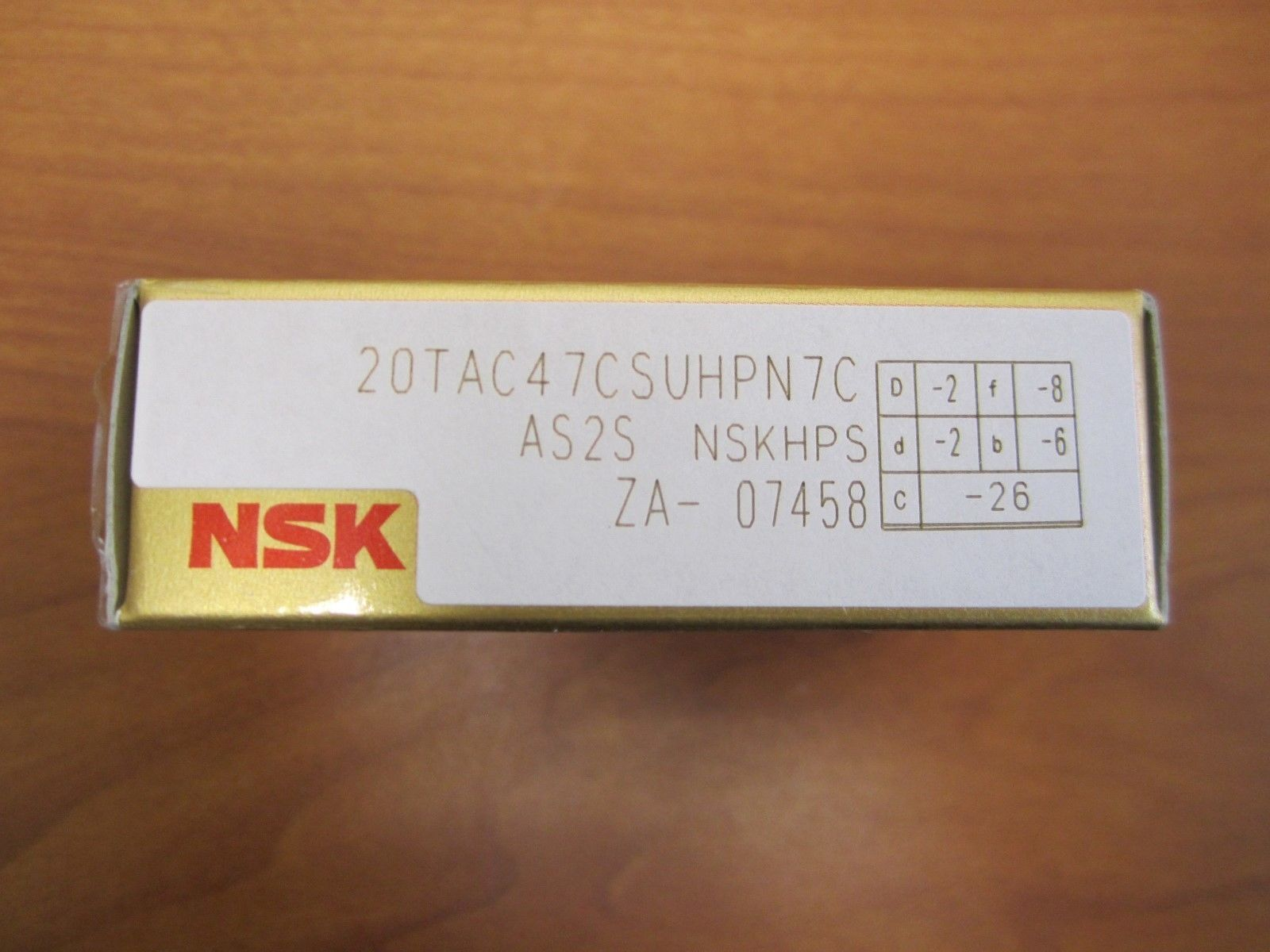 high temperature NSK Precision Ball Screw Support Bearing 20TAC47CSUHPN7C