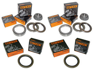 high temperature 1969-82 Corvette Timken All 4 Front/Rear Wheel Bearings