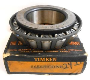 "high temperature TIMKEN TAPERED ROLLER BEARING, 66585 CONE, 2.3622"" BORE"