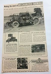 high temperature Timken Bearing Equipped Mechanized Farming Tractor Canton, Ohio Vintage Print Ad