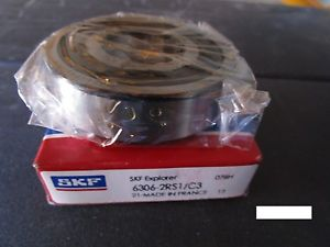high temperature SKF 6306 2RS1 C3, Single Row Bearing VV(=2 NSK,NTN,FAG 2RSR,Timken Fafnir 306PP)