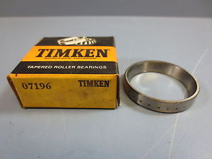 "high temperature 1 Nib Timken 07196 Tapered Roller Bearing Cup OD 1 31/32"" Width 3/8"" New!!"