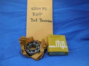 high temperature 6204 RS RHP Ball Bearing NOS  NP1040