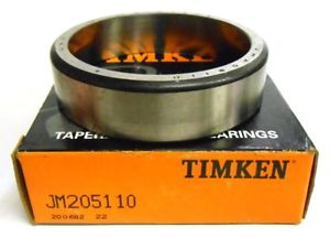 high temperature TIMKEN TAPERED ROLLER BEARING, JM205110, 90 MM OUTSIDE DIAMETER, 23 MM CUP WIDTH