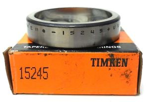"""high temperature TIMKEN BEARING RACE CUP 15245, 2.4409"""" OD, 0.5625"""" W, LOT OF 2"""