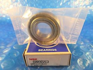 high temperature NSK 6003ZZ C3, Single Row Radial Bearing, (=2 SKF2Z, NTN, Fafnir Timken 9103KDD)