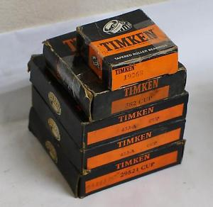high temperature LOT OF 5 TIMKEN TAPERED ROLLER BEARINGS 19268, 382, 453-A, 29521 CUP !!!    F405