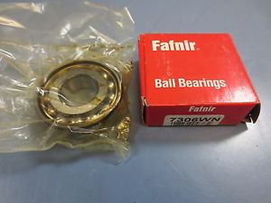 high temperature 1 Nib Fafnir Torrington 7306WN Angular Contact Bearing 30mm Bore ID 72mm OD 19mm