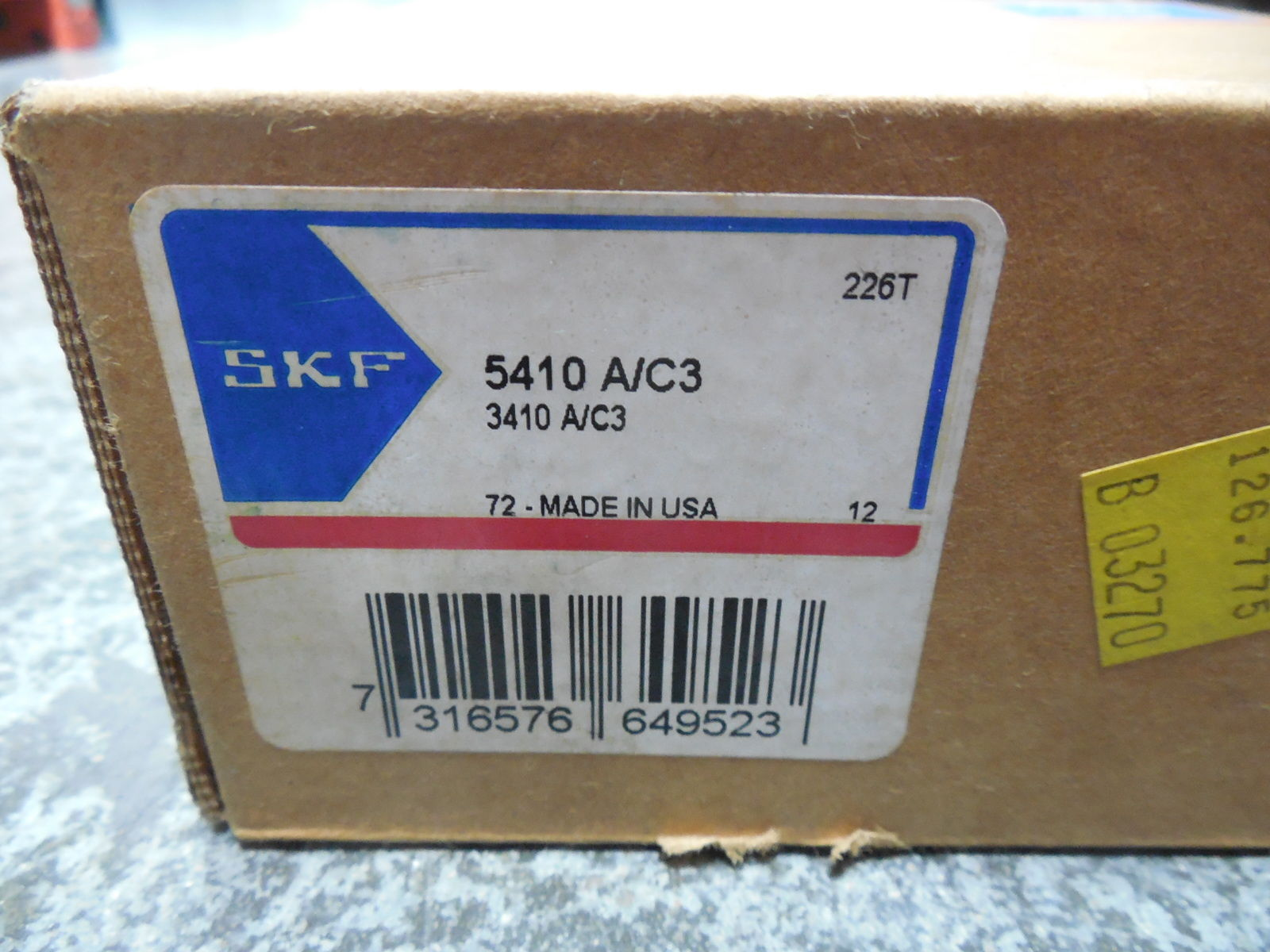 high temperature  SKF 5410 A/C3 / 3410 A/C3 Double Row Angular Contact Ball Bearing Set