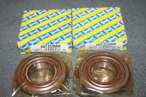high temperature (Lot of 2) SNR 6207.ZZJ30A50 Shielded Deep Groove Bearings ZZ  *  *