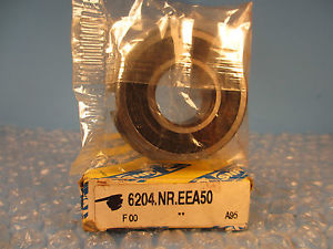 high temperature SNR 6204 NR EE, 6204NREE Deep Groove Ball Bearing with snap ring
