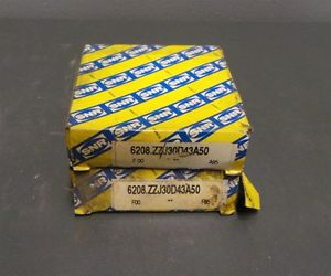 high temperature SNR Tapered Roller Bearings 6208.ZZJ30.D43A50  6208 Lot of 2 New