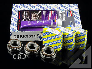 high temperature Opel M32 6 sp Gearbox 3 x uprated genuine SNR top casing bearing kit