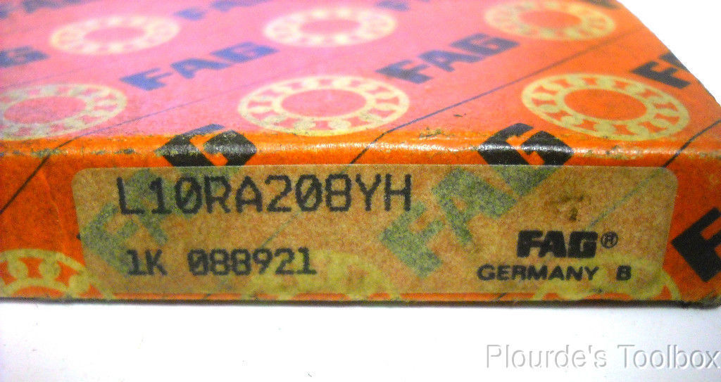 """high temperature New FAG 2.5"""" ID x 0.3125"""" W Thin Section Roller Ball Bearing, L10RA208YH"""
