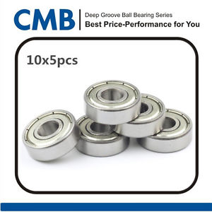 high temperature 50PCS 609-2Z 609ZZ Deep Groove Double Metal Shielded Ball Bearing 9x24x7mm