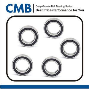 high temperature [5pcs] 6903-2RS 6903 2RS Rubber Sealed Ball Bearing Bearings 17x30x7 mm