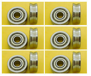 high temperature 2pcs 4mm 624VV 4*14*5 mm V Groove 135 degrees Sealed Ball Bearings V624zz -135