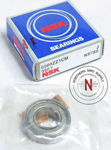 high temperature NSK 6900ZZ1CM DEEP GROOVE BALL BEARING, 10mm x 22mm x 6mm, FIT C0, DBL SEAL