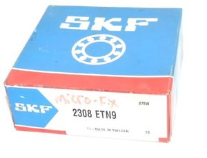 high temperature F/S SKF 2308ETN9 BALL BEARING SINGLE ROW SELF ALIGNING 90X40X33MM, 2308 ETN9