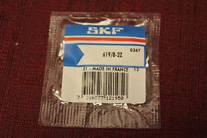 high temperature SKF 619/8-2Z 8mm Bore, 19mm OD, 6mm Width, Deep Grooved Ball Bearing New