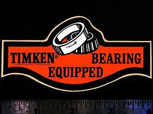 high temperature TIMKEN Bearing Equipped – Original Vintage 1960's 70's Racing Decal/Sticker