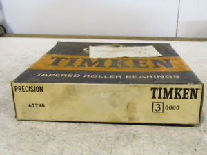 high temperature Timken Tapered Roller Bearing 67790 Precision Cone NIB