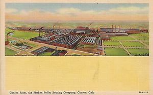 high temperature Timken Roller Bearing Company Plant in Canton OH Postcard