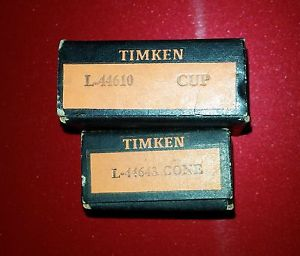 high temperature Timken Neck Tapered Roller Bearing Set CUP L44610 CONE L44643
