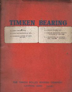 high temperature Old Vintage 1962 Manual Book Guide Timken Bearing Roller Co. Canton Ohio