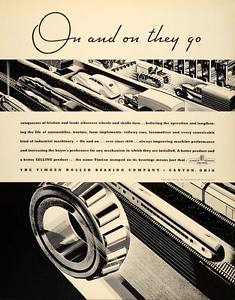 high temperature 1934 Ad Timken Roller Bearing Canton Ohio Cars Trains – ORIGINAL FTT9