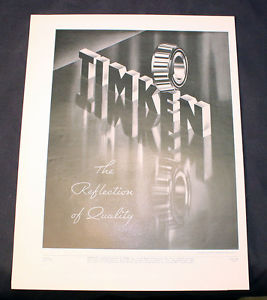 high temperature Vintage Ad 1935 Timken Roller Bearing Company The Reflection of Quality