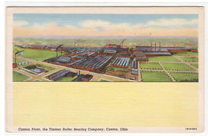 high temperature Timken Roller Bearing Company Plant Factory Canton Ohio 1942 postcard
