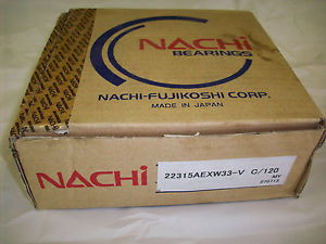 high temperature 22315AEXW33-V NACHI SPHERICAL ROLLER BEARING BRONZE CAGE JAPAN