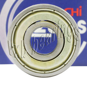 "high temperature R8ZZ Nachi Bearing Shielded Japan 1/2""x1 1/8""x5/16"" Ball Bearings Rolling"