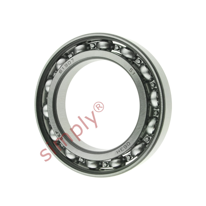 high temperature SKF 6907 Open Type Thin Section Deep Groove Ball Bearing 35x55x10mm
