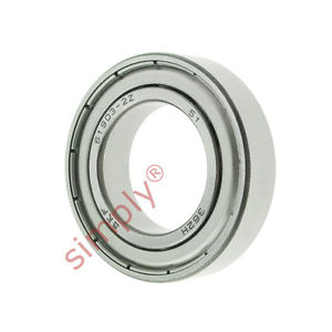 high temperature SKF 619032Z Metal Shielded Thin Section Deep Groove Ball Bearing 17x30x7mm