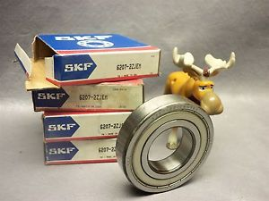 high temperature SKF Bearing 6207-2ZJEM Single-Row Shielded Ball Bearing Lot of 4