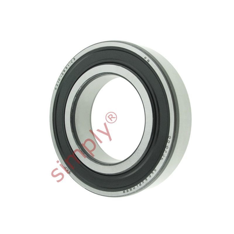 high temperature SKF 62102RS1C3 Rubber Sealed Deep Groove Ball Bearing 50x90x20mm