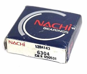 high temperature FACTORY SEALED NACHI 6304 BALL BEARING RADIAL OPEN 20MM BORE 52MM OD