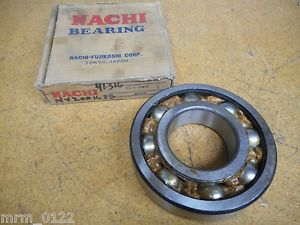 """high temperature NACHI 6316-2NS Bearing 80mm ID 39mm Thick 6-11/16"""" OD New Old Stock"""