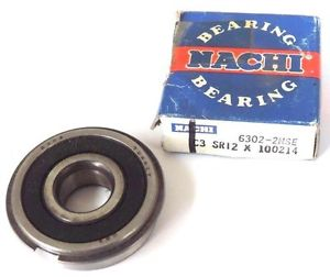 high temperature NIB NACHI 6302-2NSE BALL BEARING SEALED 42X15X13MM 63022NSE