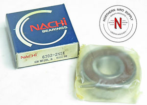 high temperature NACHI 6302-2NSE DEEP GROOVE BALL BEARING, 15mm x 42mm x 13mm, C3 FIT, DBL SEAL