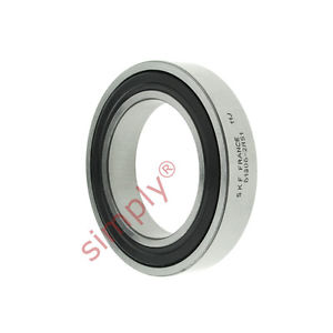 high temperature SKF 619062RS1 Rubber Sealed Thin Section Deep Groove Ball Bearing 30x47x9mm