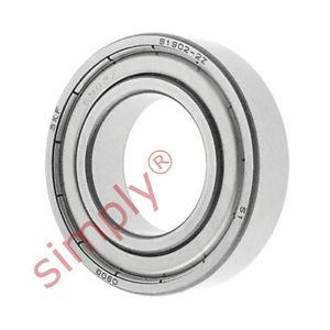 high temperature SKF 69022Z Metal Shielded Thin Section Deep Groove Ball Bearing 15x28x7mm