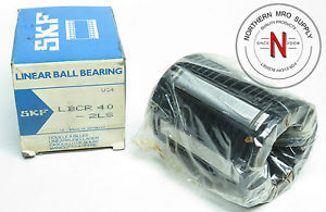 high temperature SKF LBCR 40-2LS CLOSED ROUND RAIL BALL BUSHING, 40mm, SEALED PKG