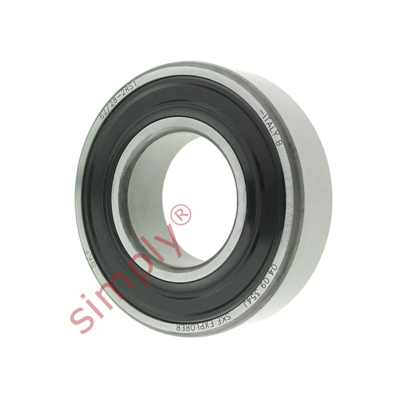 high temperature SKF 62/282RS1 Rubber Sealed Deep Groove Ball Bearing 28x58x16mm