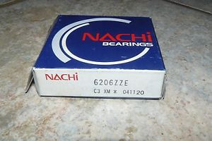 high temperature  NACHI 6206ZZE DEEP GROOVE BALL BEARING SHIELDED 30MMX62MMX16MM