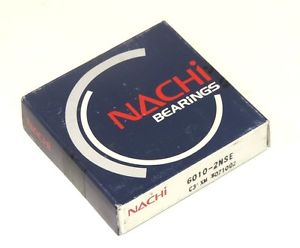 high temperature NIB NACHI 6010-2NSE SINGLE ROW BALL BEARING 60102NSE