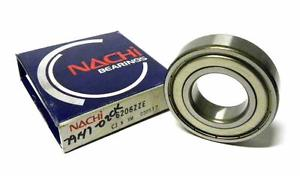 high temperature  NACHI 6206ZZE SHIELDED BALL BEARING 30 MM X 62 MM X 16 MM